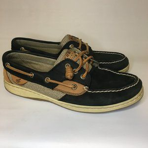Sperry Top Sider Boat Shoes Womens size 8M Black